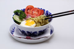 Pick up noodle with chopstick Stock Photography