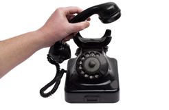 Pick up old Phone royalty free stock photos