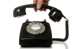 Pick up the old telephone. Royalty Free Stock Image