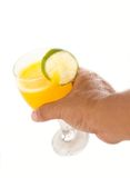 Pick up orange juice Royalty Free Stock Photo