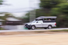 Pick up panning camera in road Royalty Free Stock Photo