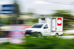 Pick-up Speeding in road Stock Photography