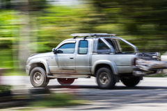 Pick-up Speeding in road Royalty Free Stock Photo
