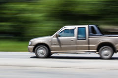 Pick-up Speeding in road Royalty Free Stock Photos
