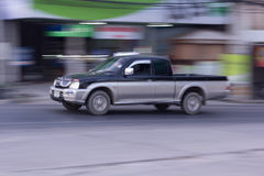 Pick-up Speeding in road Royalty Free Stock Photography