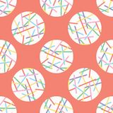 Pick up Stick Polka Dots Vector Pattern Hand Drawn royalty free illustration