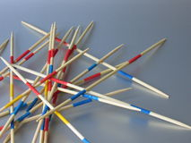 Pick-up Sticks. Multi-colered pick-up sticks Royalty Free Stock Photos