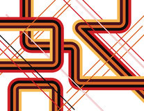 Pick-up Sticks. Intersecting lines and shapes are featured in an abstract background illustration stock illustration