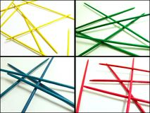 Pick-up-sticks compilation Stock Images
