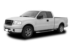 Pick Up Truck. New White Pick Up Truck Isolated royalty free stock photo