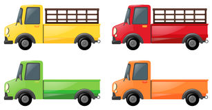 Pick up truck in four colors Royalty Free Stock Photography