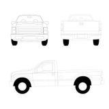 Pick-up truck line illustration Stock Image