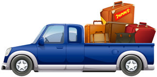 Pick up truck loaded with bags Royalty Free Stock Photo
