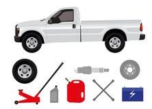 Pick-up truck in repair shop Stock Photos