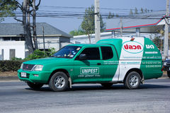 Pick up truck of Unipest company Stock Images