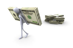 Pick up your cash. 3D rendered Illustration. Pick up your cash Stock Photography