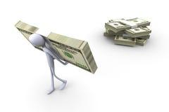 Pick up your cash. 3D rendered Illustration. Pick up your cash Stock Image
