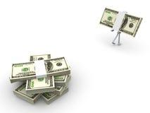 Pick up your cash. 3D rendered Illustration. Pick up your cash Stock Images