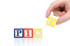 Pick word Stock Image