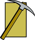 Pickaxe digging or mining tool vector illustration Stock Photography