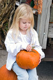 Picked A Pumpkin Royalty Free Stock Photo