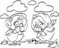 Picken von Hühnern Stockfoto