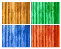 Picket colored wood surfaces Royalty Free Stock Photos
