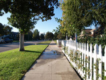 Picket Fence. On a pretty middle class street Royalty Free Stock Image