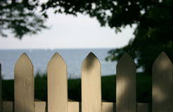 Picket Fence. On the lakefront Royalty Free Stock Photography