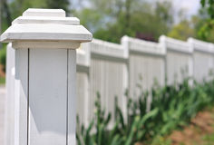 Picket Fence Stock Image