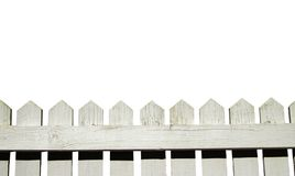Picket fence. White picket fence, isolated on a white background Royalty Free Stock Photos