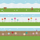 Picket fence banners Royalty Free Stock Image
