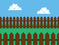 Picket Fence Brown Backyard Royalty Free Stock Photography