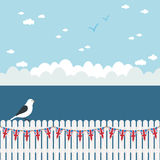 Picket fence bunting Stock Images