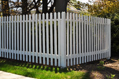 Picket fence corner section Royalty Free Stock Image