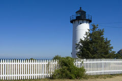 Picket Fence by East Chop Lighthouse Royalty Free Stock Photos