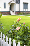 Picket fence and an entrance Stock Image