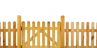 Picket fence. Garden fence - cut out Stock Images