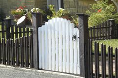 Picket fence and gate Royalty Free Stock Photography