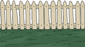 Picket Fence over White Stock Images