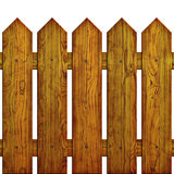 Picket Fence Seamless. Seamless picket fence background or texture against white background Stock Photography