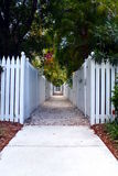 Picket Fence Walkway Stock Image