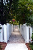 Picket Fence Walkway Stock Images