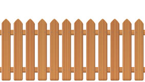 Picket Fence Wooden Texture Stock Photography