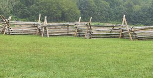 Picket fencing in Gettysburg, PA. royalty free stock image