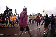 Picket Line Ports of Auckland Royalty Free Stock Photo