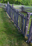 Picket or Paling Rail Fence- Blue Ridge Parkway, Virginia, USA Stock Images