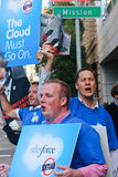 Picket protest against Oracle decision Royalty Free Stock Images