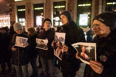 Picket in support of political prisoner Ildar Dadin Stock Photos