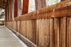 Pickets on an Old Wood Bridge Royalty Free Stock Photo